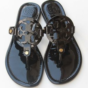 Tory Burch Millers Black Patent Leather size 7